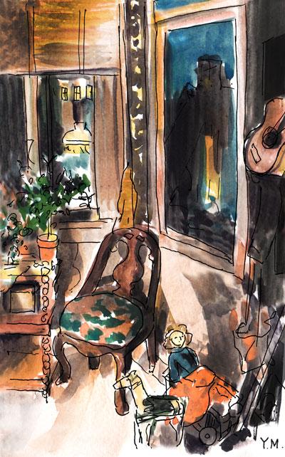after Carl Larsson by Yukié Matsushita