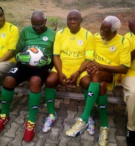 Obasanjo plays for Super Eagles
