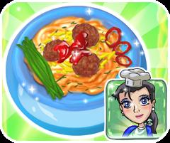 game nấu ăn mỳ ý sốt thịt bò, chơi game nau an hay tại gamevui.biz