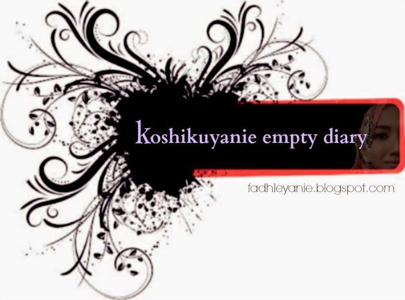 koshikuyanie Empty Diary
