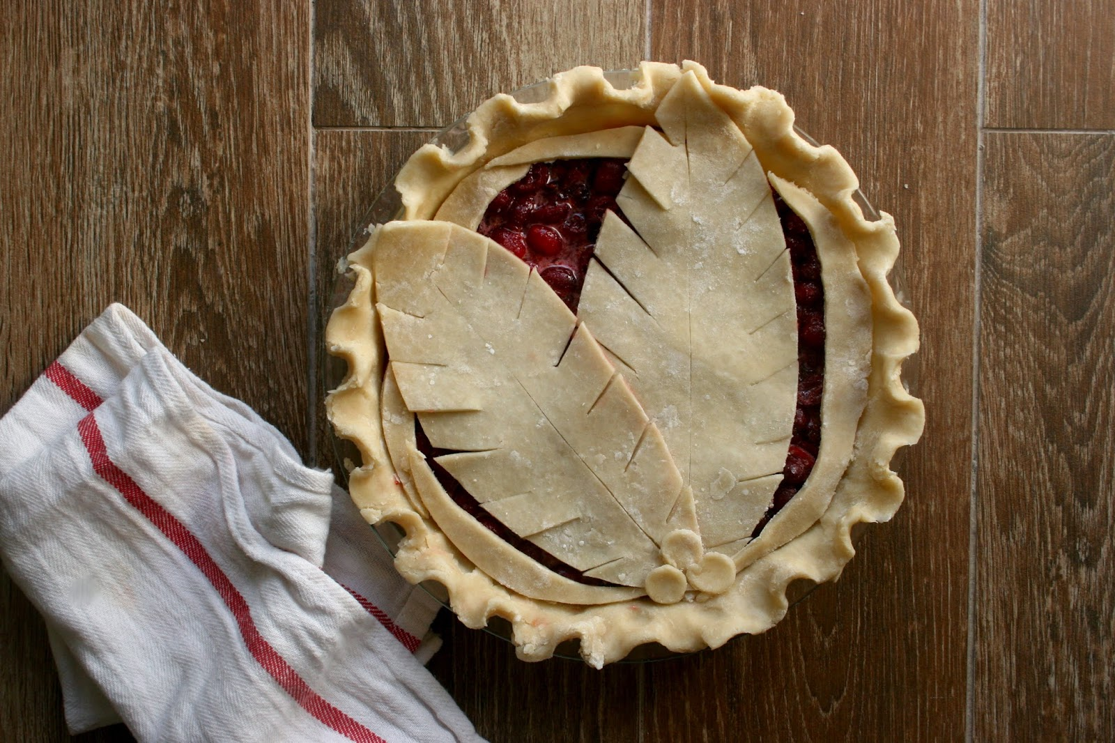 Cranberry Pie with Decorated Crust, Pre-Bake