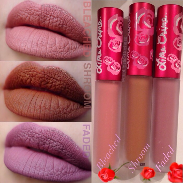 The Lipstick Duchess: Lime Crime Velvetines - Faded, Shroom and ...