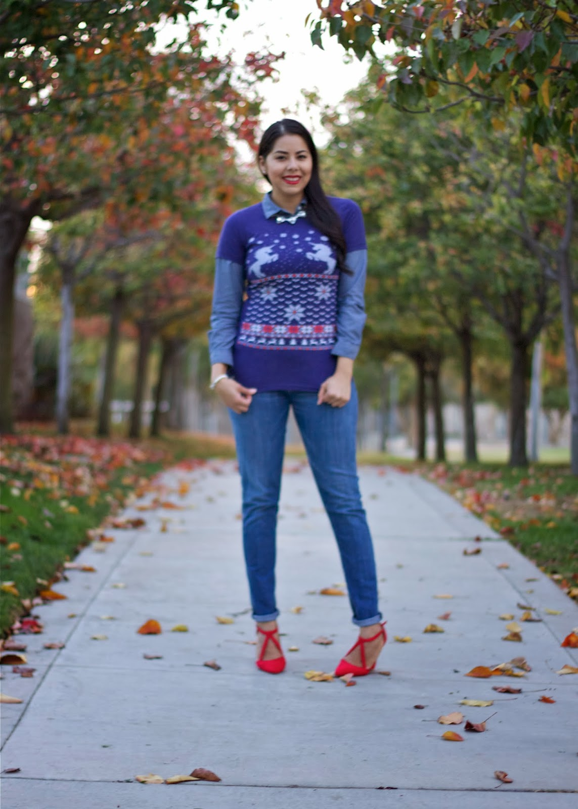 Glaming Up The Ugly Christmas Tee Lil Bits Of Chic By Paulina Mo