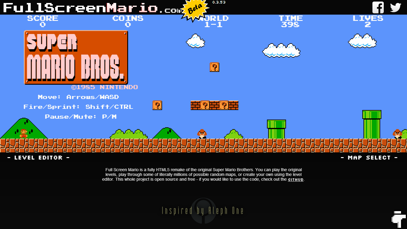 super mario browser game