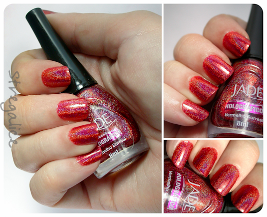 Jade Vermelho Surreal holographic red swatches