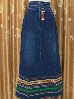Model Rok Jeans Panjang Muslimah Casual