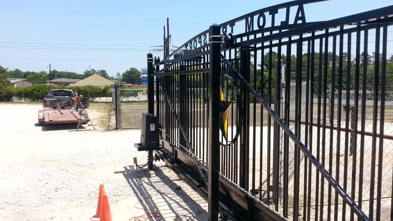 Viking l slide gate installation
