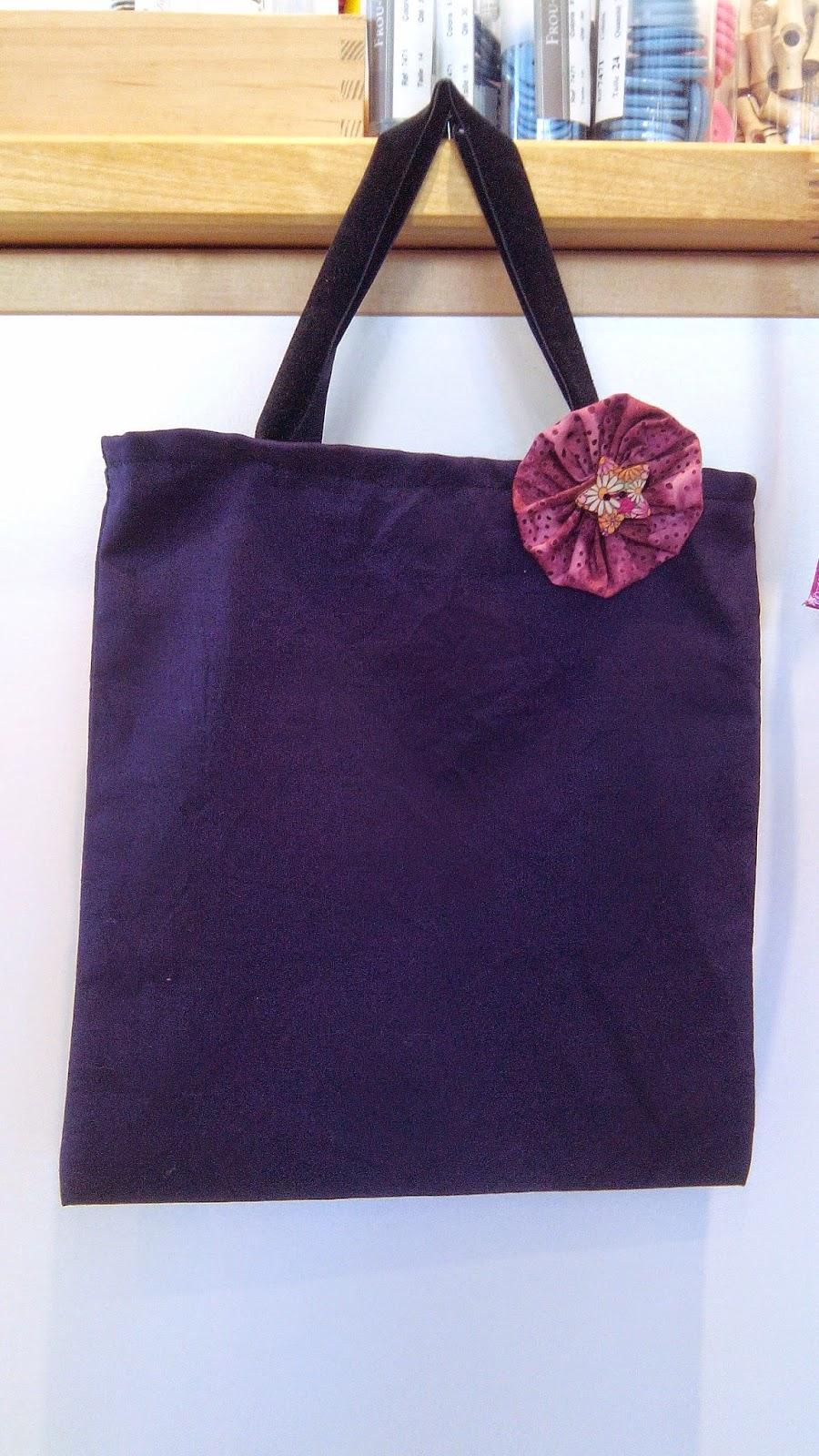 Couture en atelier tote bag bleu marine