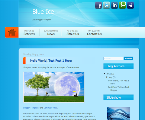 Blue Ice Blogger Theme