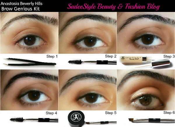 How to shape eyebrow with Anastasia Brow Genius Kit? ~ SadeeStyle ...