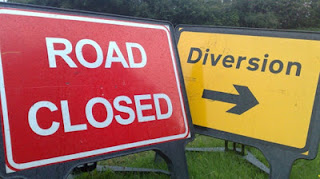 Road Closure and Diversion Street Signs