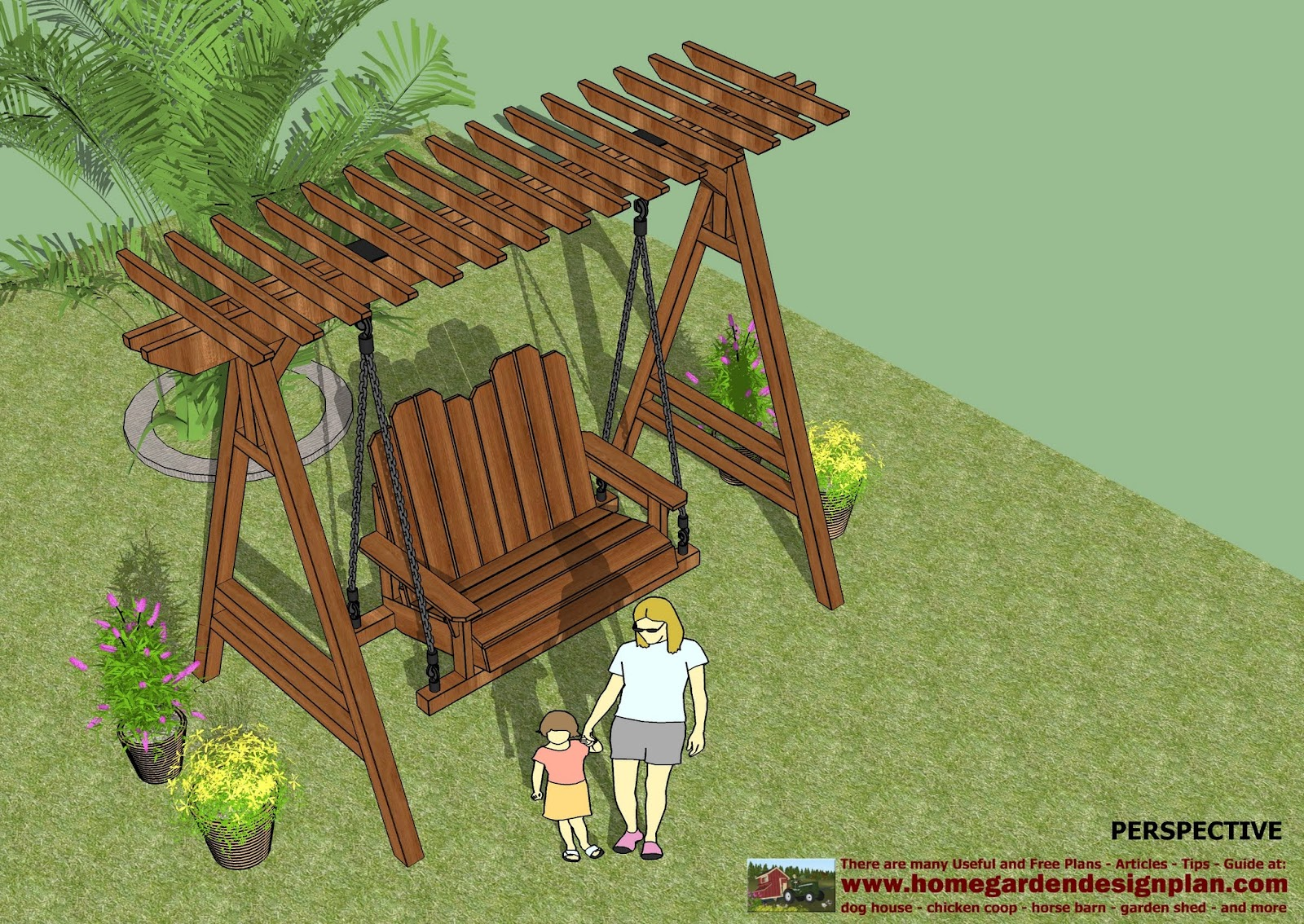 garden swing woodworking plans