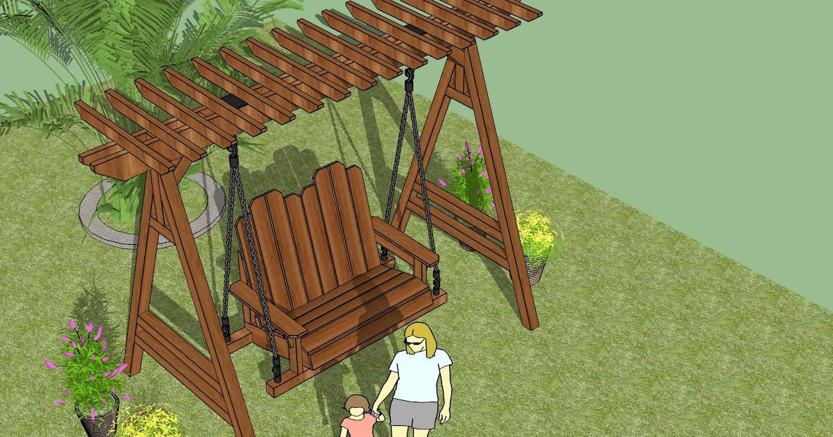 home garden plans sw101 arbor swing plans construction diy arbor swing howtospecialist how to build step by