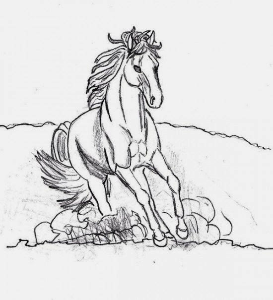 horses printable coloring pages title=