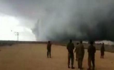 Mão de Deus Nuvem misteriosa aparece na fronteira de Israel