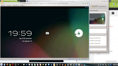 Android rodando no Linux Mint pelo Virtual Box