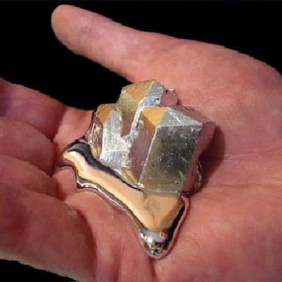 IF YOU HOLD GALLIUM IT WILL BEGIN MELTING IN YOUR HAND