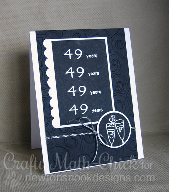 Anniversary card by Crafty Math-Chick | Years of Cheers stamp set by Newton's Nook Designs