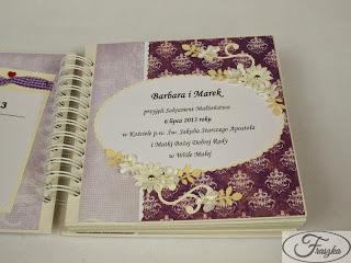 Ręcznie robiony album ślubny
