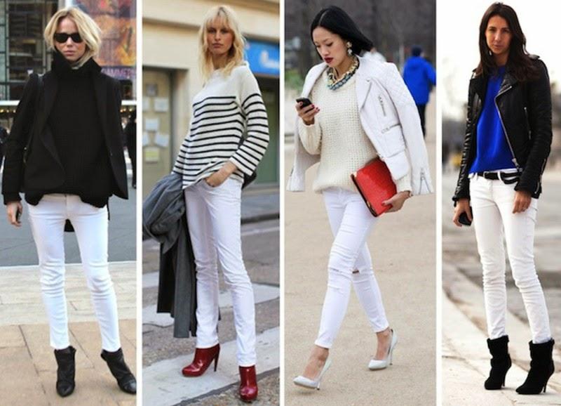 Tips memadukan jeans warna putih