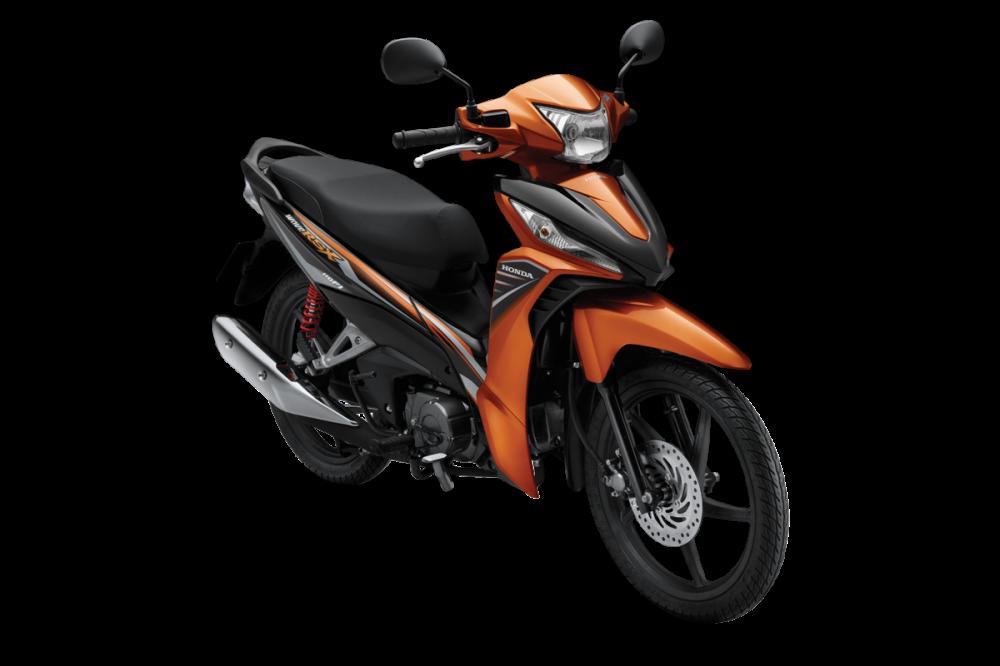 Hình ảnh chi tiết phiên bản Wave RSX 110 màu đen cam