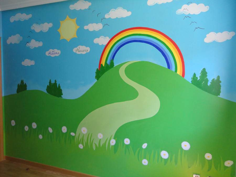 Decopared murales pintados en paredes lisas o gotele for Pintar murales en paredes exteriores