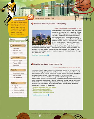Tournaments Blogger template