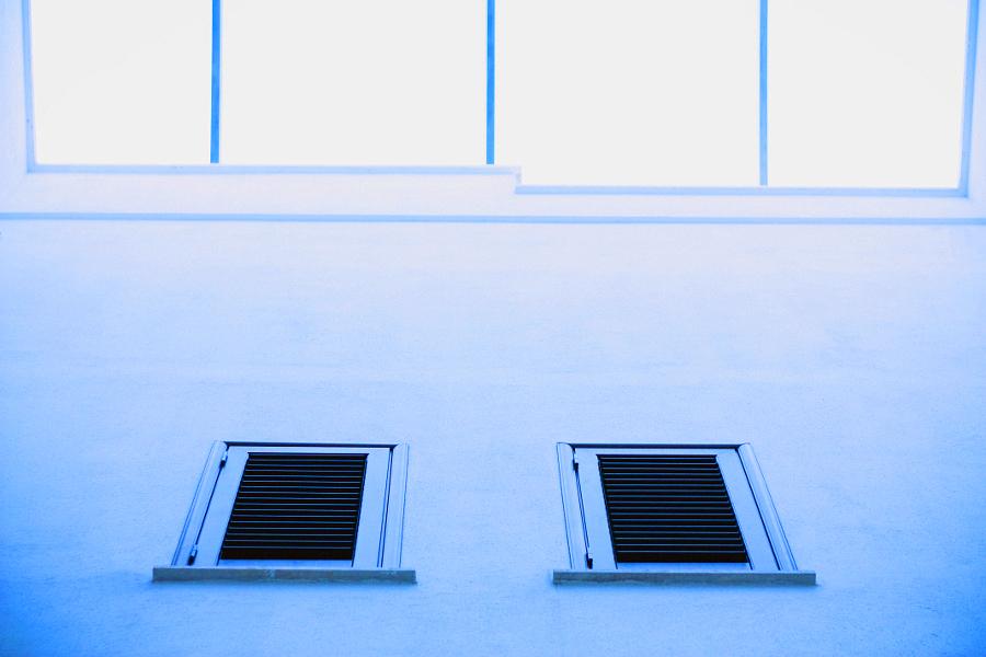 finestre azzurre, blu, luce, colori