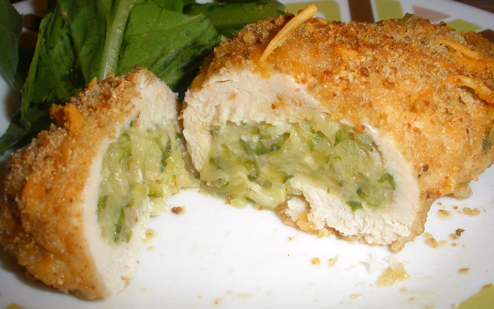 Chicken Rollatini Stuffed with Zucchini and Mozarella. I used this ...