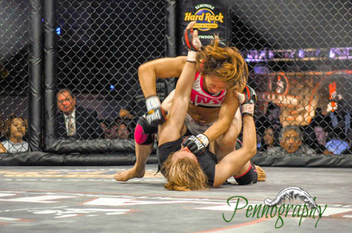 Bellator 21 Megumi Fujii defeats Sarah Schneider at Seminole Hard Rock Hotel & Casino in Hollywood, Florida on June 10, 2010. Photo: Jeremy Penn / Pennography  NIKON D90 82 1/320, 2.8, 1000