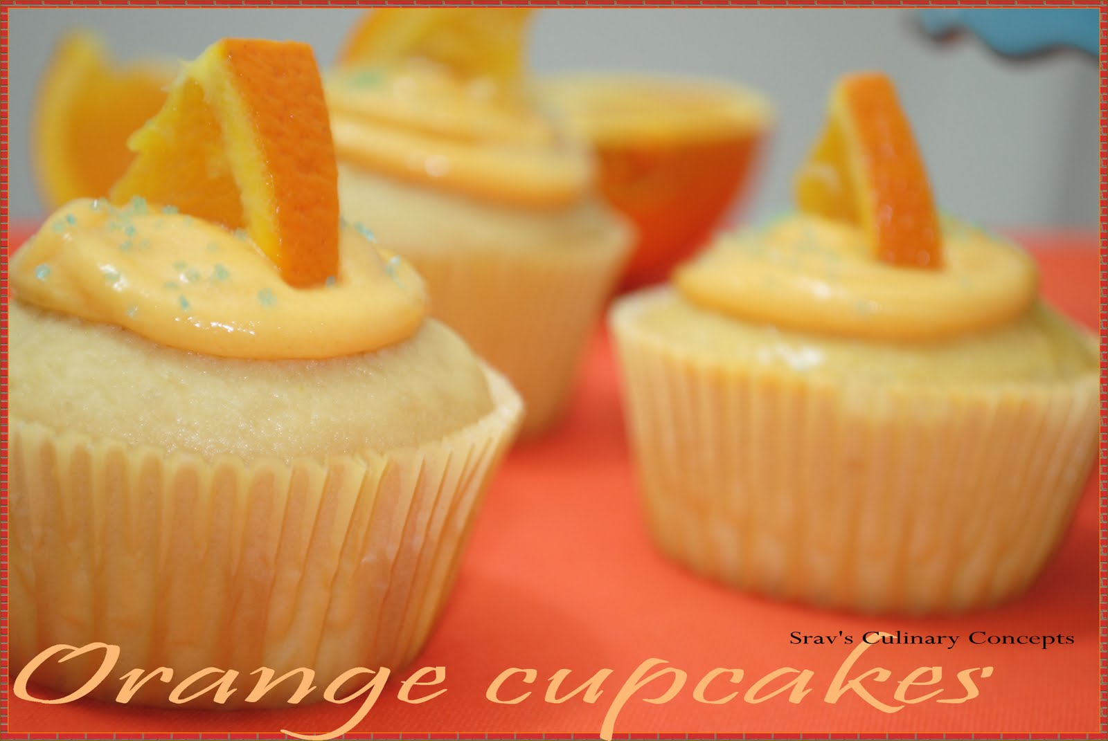 Srav's Culinary Concepts: Orange cupcakes with Vanilla Cream Cheese ...