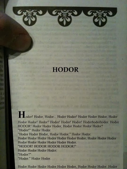 game of thrones memes Hodor Hodor