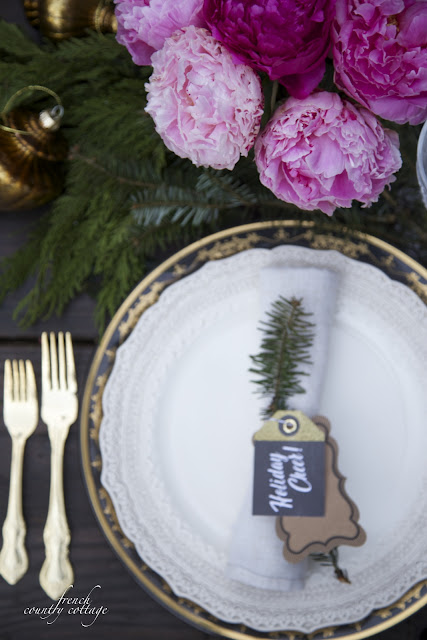 New Years Eve Tablesetting
