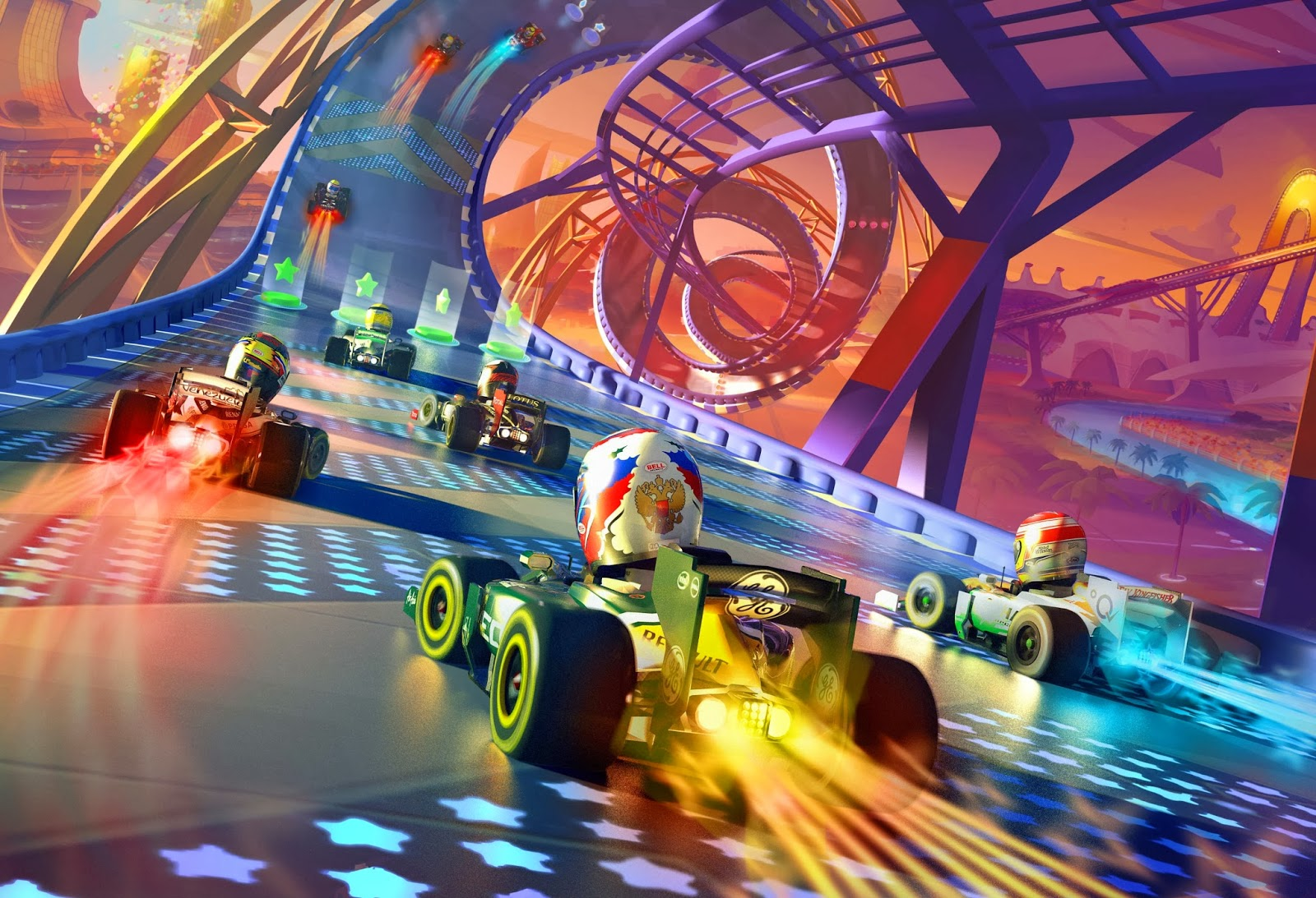 review f1 race stars powered up edition wii u digitally downloaded. Black Bedroom Furniture Sets. Home Design Ideas