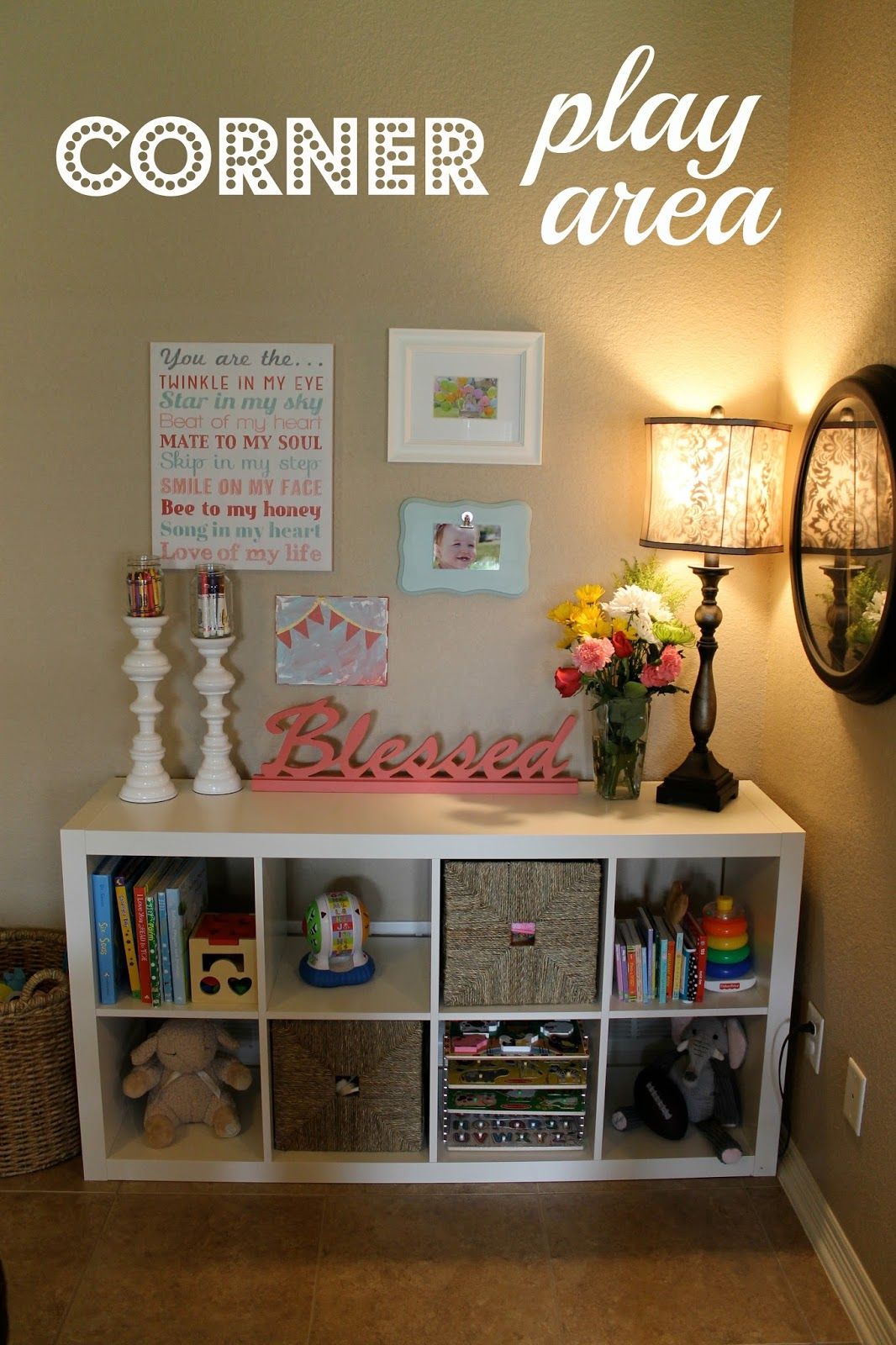 Perfectly us corner play area for Organizing a living room