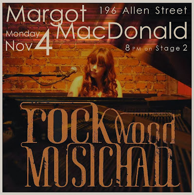 Margot MacDonald will release Canvas @ Rockwood Music Hall Nov 4th @ 8PM