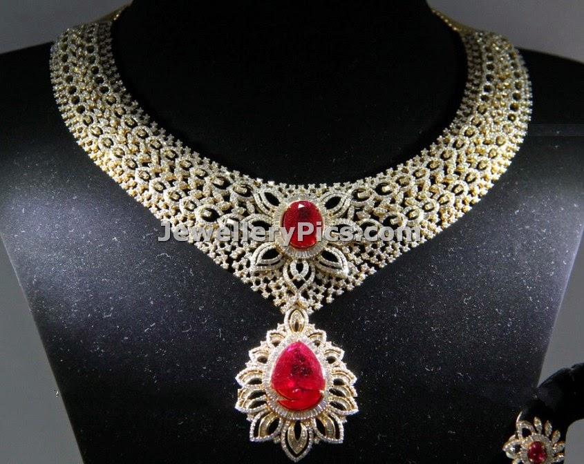 Bridal diamond rose bus clasps necklace