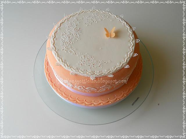 (Pdz-Sap) Broderie anglaise e brush embrodery cake