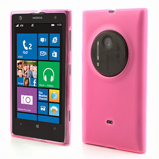 Frosted TPU Jelly Case for Nokia Lumia 1020 - Pink