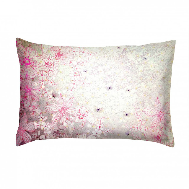Pink butterfly cushion