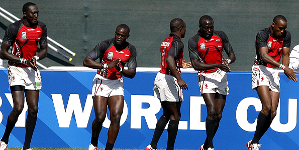 Kenyan Rugby sevens team out didthemselves and almost beat England