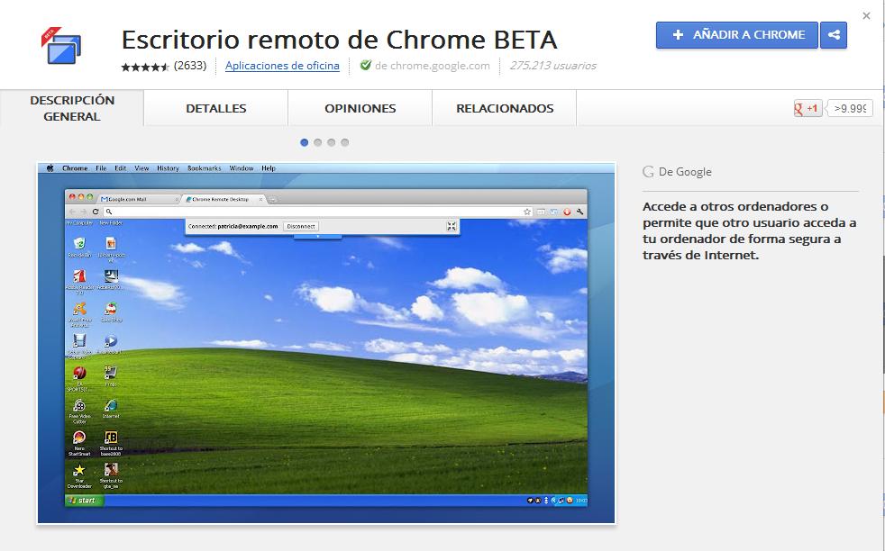 Pcdymsoft controlar un escritorio remoto con chrome remote desktop - Escritorio remoto ...