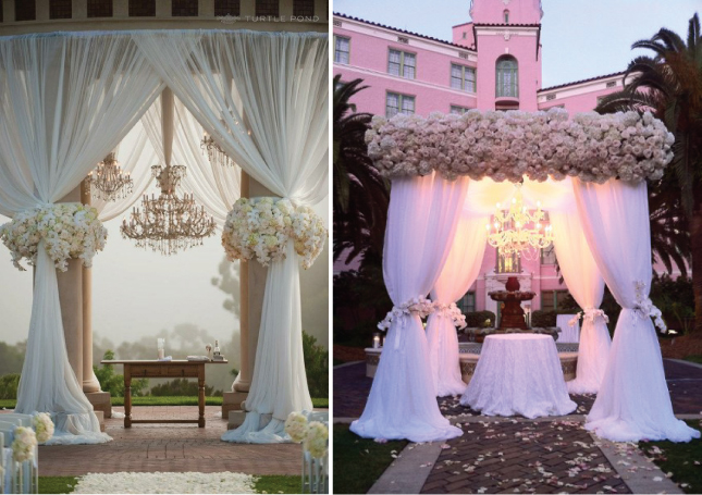 Wedding ceremony decor altars canopies arbors arches for Altar wedding decoration