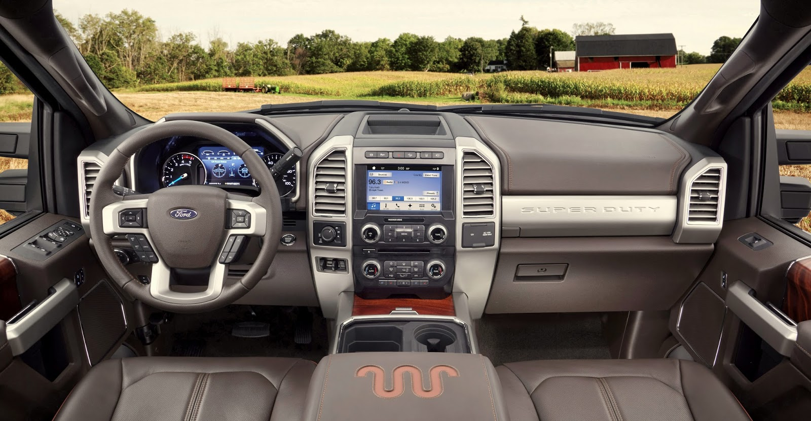 Ford brought its 2017 super duty f series trucks to the texas state fair for a first look at the heavy duty people and stuff mover with it s high strength