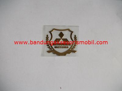 Emblem Alumunium Kotak Kecil Logo Mobil Mitsubishi