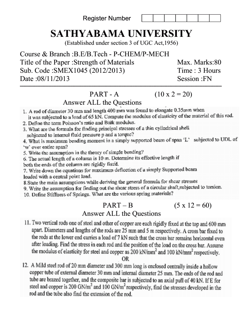 University B.Sc. (H) Bio-Chemistry First Year Exam Question Papers ...