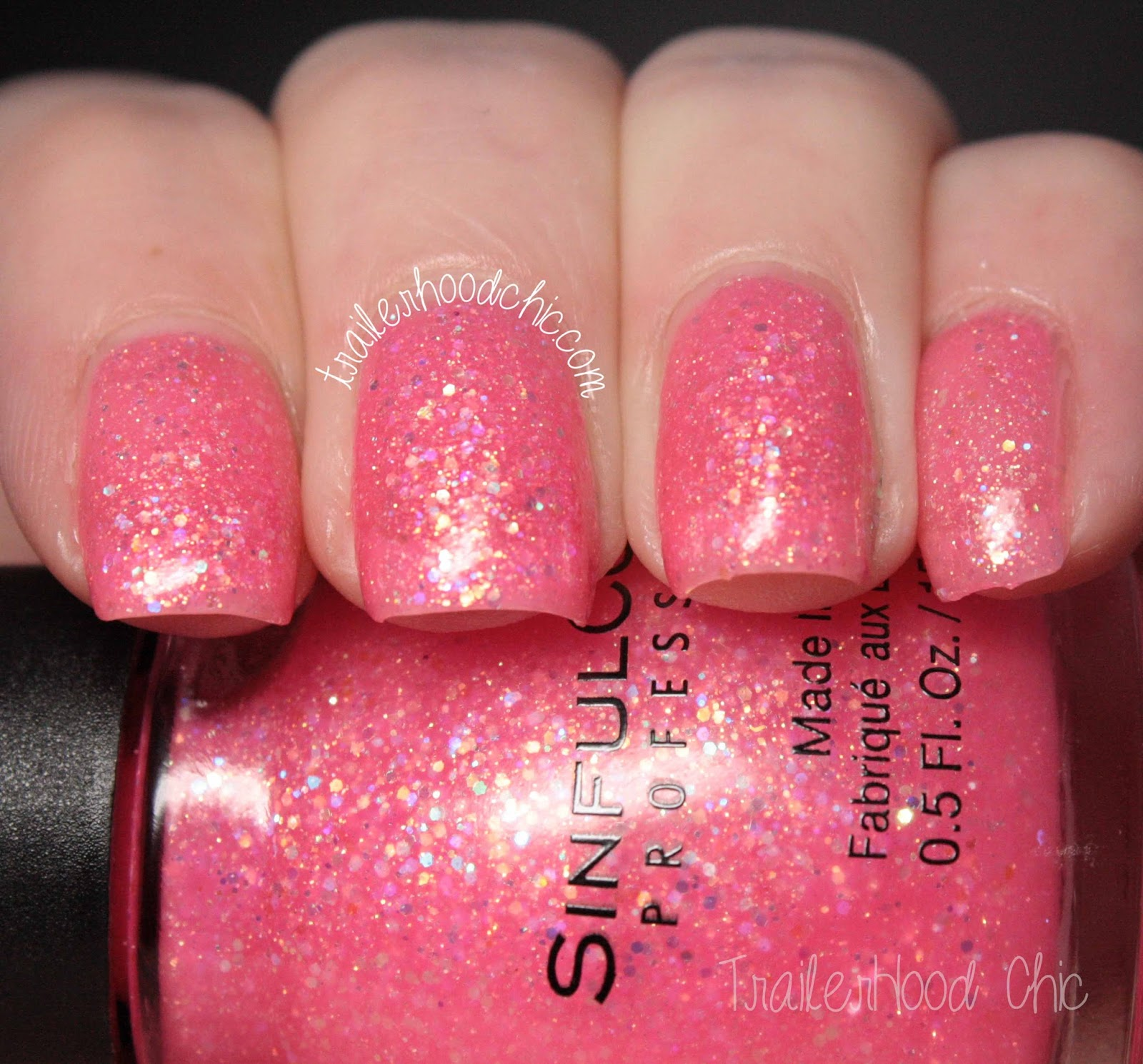 sinful colors flirt with hearts pinky glitter