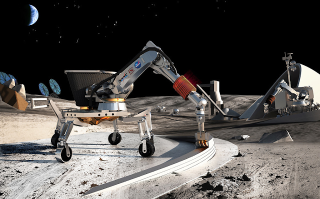 3D Printing buildings on the Moon