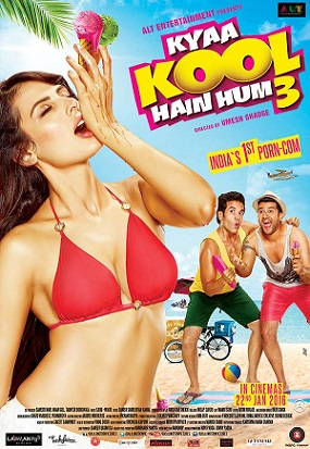 The censor board administrated an astounding 150 cuts to adult comedy Kya Kool Hai Hum 3 before passing it with an A certificate.  Kya Kool Hai Hum 3 had made waves with its over-the-top publicity stills and trailers with double meaning dialogues and lead actors with suggestive hard-ons.  Bollywood Life described the 150 cuts for a movie as unbelievable. But it may not come as a surprise as the censor board under its current chairman Pahlaj Nihalani has been liberally wielding knife to uphold Indian culture.