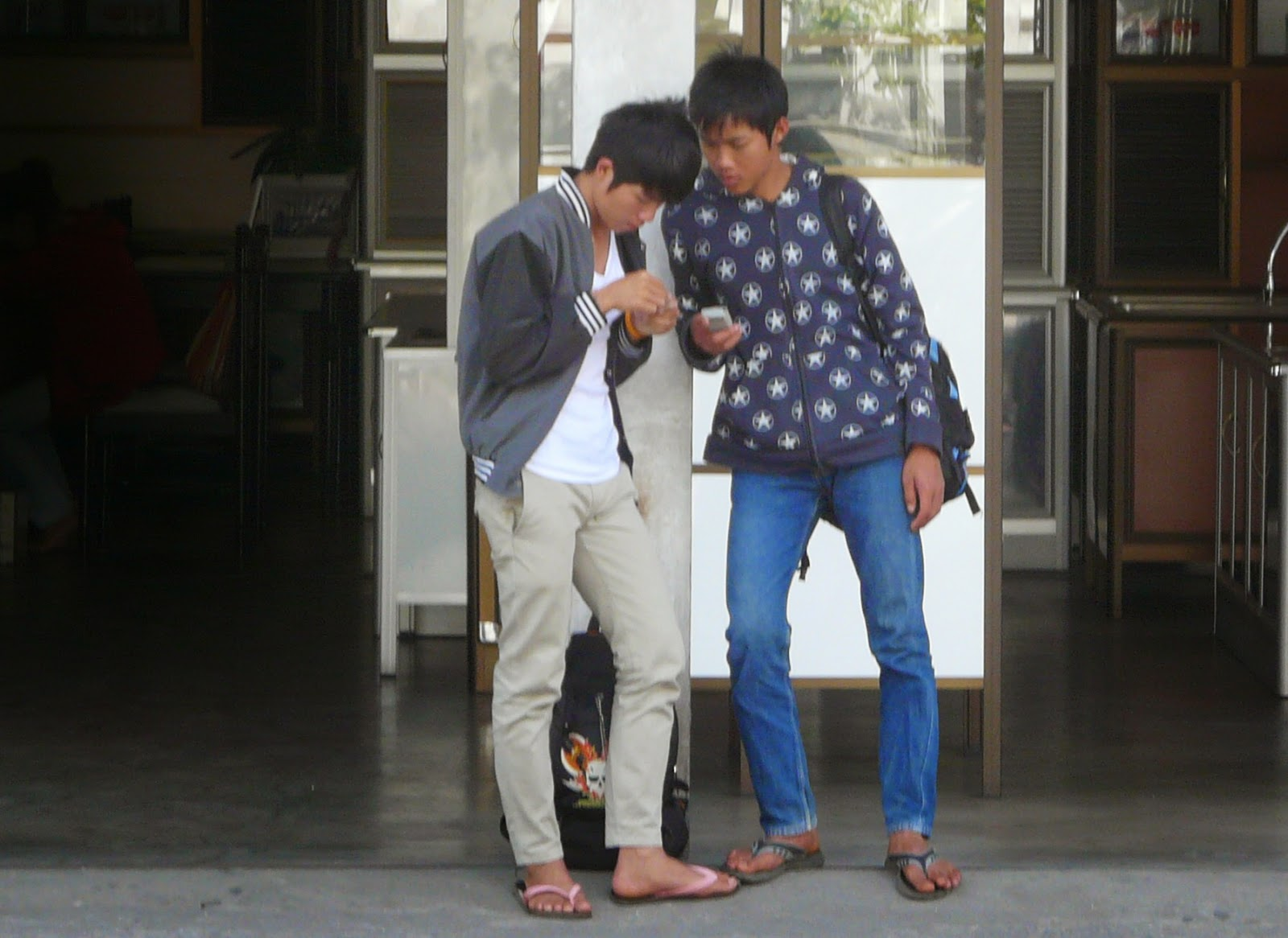 Boys near Chang Phuak Bus Station